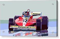 Ferrari 312 T3 1978 Canadian Gp Acrylic Print by Yuriy  Shevchuk