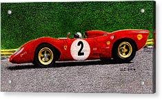 Ferrari 312p Pedro Rodriguez 1969 Acrylic Print by Ugo Capeto