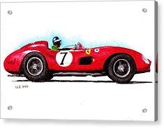 Ferrari 335s Mike Hawthorn 1957 Acrylic Print by Ugo Capeto