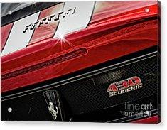 Acrylic Print featuring the photograph Ferrari 430 Scuderia by Brad Allen Fine Art
