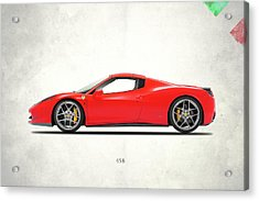 Ferrari 458 Italia Acrylic Print by Mark Rogan