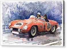 1953-1955 Ferrari 500 Mondial 1000 Miglia Acrylic Print by Yuriy  Shevchuk