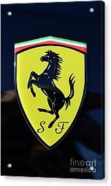 Ferrari Badge Acrylic Print by George Atsametakis