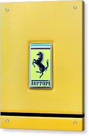 Acrylic Print featuring the photograph Ferrari Badge by Theresa Tahara