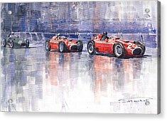 Ferrari D50 Monaco Gp 1956 Acrylic Print by Yuriy  Shevchuk