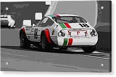 Ferrari Daytona 365 Gtb4 - Italian Flag Livery Acrylic Print by Andrea Mazzocchetti