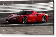 Ferrari Enzo - Rosso Corsa Acrylic Print by Andrea Mazzocchetti