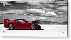 Ferrari F40 Acrylic Print by Douglas Pittman