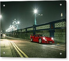 Ferrari F40 London Acrylic Print