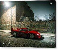 Ferrari F40 Lurking Acrylic Print