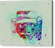 Ferrari Front Watercolor Acrylic Print by Naxart Studio