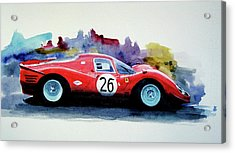 Ferrari P4 Watercolour Acrylic Print