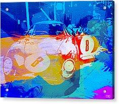 Ferrari Pit Stop Acrylic Print by Naxart Studio
