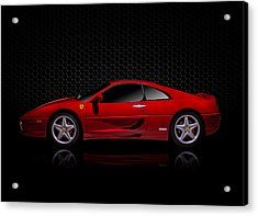 Ferrari Red - 355  F1 Berlinetto Acrylic Print by Douglas Pittman