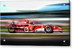 Ferrari Unbridled Acrylic Print by Peter Chilelli