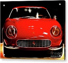 Ferrari Acrylic Print by Wingsdomain Art and Photography