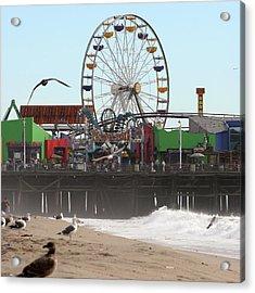 Ferris Wheel At Santa Monica Pier Acrylic Print