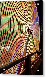 Ferris Wheel  Closeup Night Long Exposure Acrylic Print