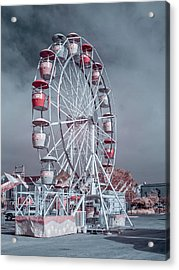 Ferris Wheel In Morning Acrylic Print by Greg Nyquist