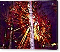 Acrylic Print featuring the photograph Ferris Wheel  by Mariola Bitner