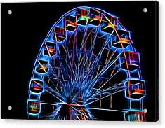 Ferris Wheel Neon Acrylic Print