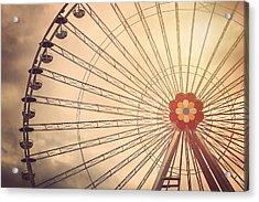 Ferris Wheel Prater Park Vienna Acrylic Print by Carol Japp