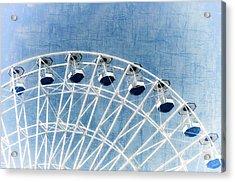 Wonder Wheel Series 1 Blue Acrylic Print