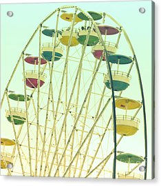 Acrylic Print featuring the digital art Ferris Wheel by Valerie Reeves