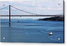 Acrylic Print featuring the photograph Ferry Across The Tagus by Lorraine Devon Wilke