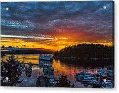 Ferry Boat Sunrise Acrylic Print by Thomas Ashcraft