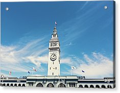 Acrylic Print featuring the photograph Ferry Building San Francisco 1915 - California Photography by Melanie Alexandra Price