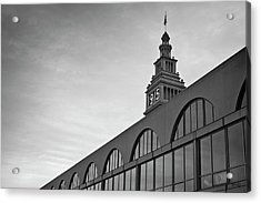 Acrylic Print featuring the photograph Ferry Building San Francisco I Bw by David Gordon