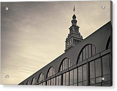 Acrylic Print featuring the photograph Ferry Building San Francisco I Toned by David Gordon