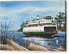 Ferry Illahee Acrylic Print by James Williamson