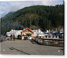 Acrylic Print featuring the painting Ferry Landed At Horseshoe Bay by Rod Jellison