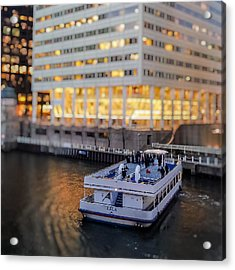 Acrylic Print featuring the photograph Ferry Ride by Ron Dubin