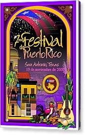 Festival De Puerto Rico Acrylic Print by William R Clegg