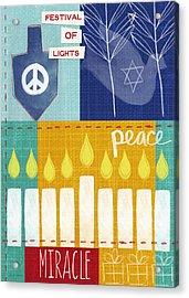 Festival Of Lights- Hanukkah Art By Linda Woods Acrylic Print