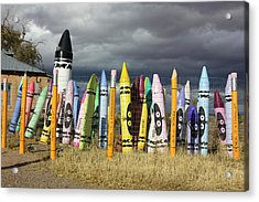 Festival Of The Crayons Acrylic Print