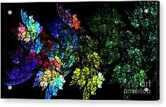 Festive Leaves Acrylic Print
