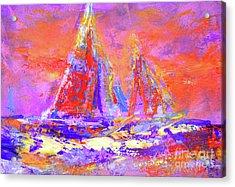 Festive Sailboats 11-28-16 Acrylic Print
