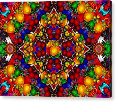 Acrylic Print featuring the digital art Festivities by Robert Orinski