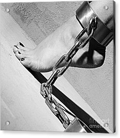 Fetish Shackled Or Cuffed Feet Acrylic Print