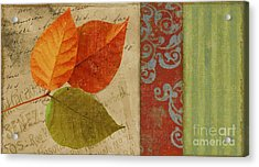 Feuilles II Acrylic Print by Mindy Sommers