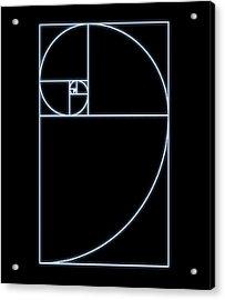 Fibonacci Spiral, Artwork Acrylic Print by Seymour