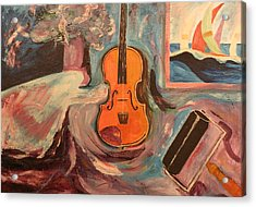 Fiddle Acrylic Print by Biagio Civale