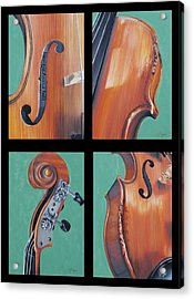 Fiddle Quartet Acrylic Print by Emily Page