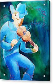 Fiddler Acrylic Print by Marilyn Jacobson