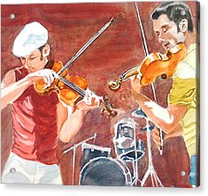 Acrylic Print featuring the painting Fiddles by Karen Ilari