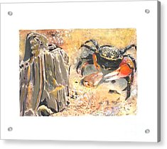 Acrylic Print featuring the painting Fiddling Around by Sibby S